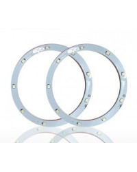 Set 2 leduri auto Angel Eyes LED EVO Formance 9cm culoare alba